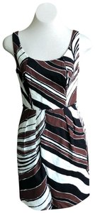 Trina Turk short dress Black, Brown, White on Tradesy