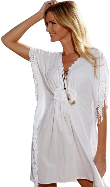 Preload https://img-static.tradesy.com/item/25139710/lirome-white-organic-gauze-cotton-lace-crochet-osuna-cover-up-short-casual-dress-size-12-l-0-1-650-650.jpg