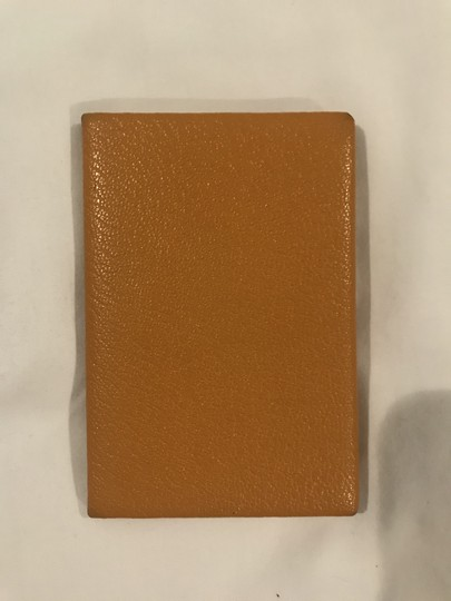 Hermès Hermes Mustard-gold Calvi Card Holder Image 4