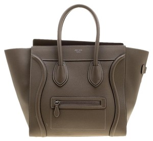 Céline Leather Suede Tote in Brown