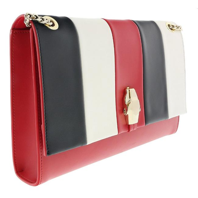 Item - Class Red/White/Black Medium Red/White/Black Calf Synthetic Leather Shoulder Bag