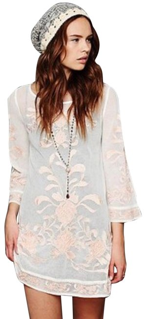 Preload https://img-static.tradesy.com/item/25139923/free-people-cream-embroidered-mesh-tunic-short-casual-dress-size-4-s-0-1-650-650.jpg