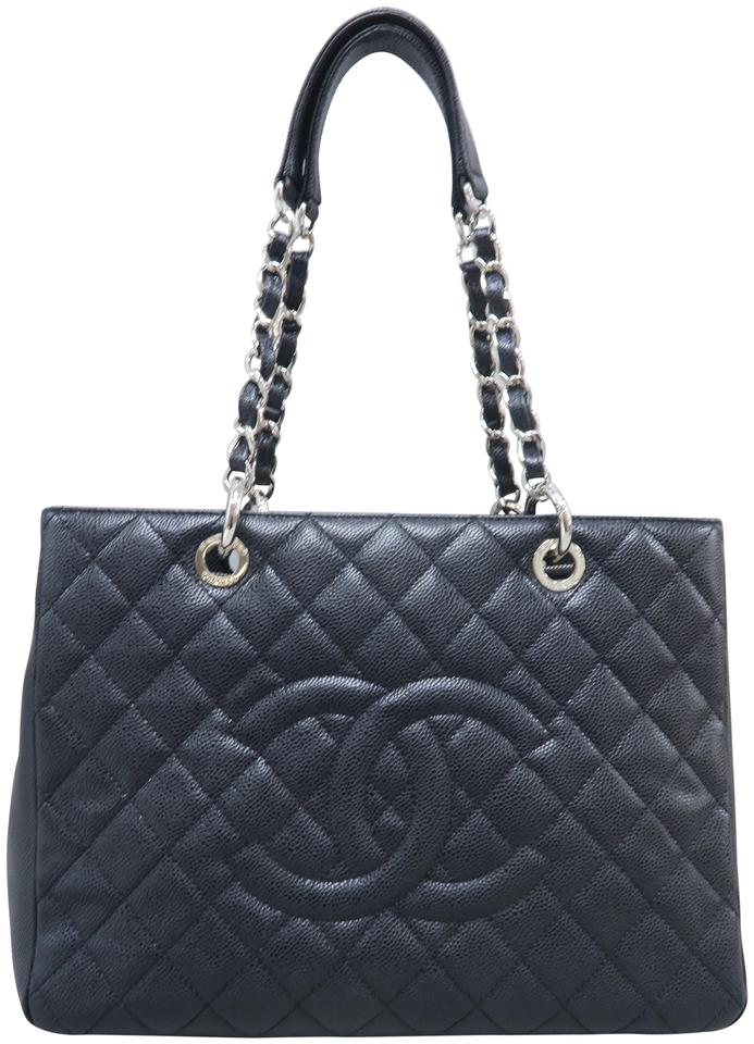 d561acbbdd9b Chanel Shopping Tote Grand (Gst) Black Caviar Shoulder Bag - Tradesy