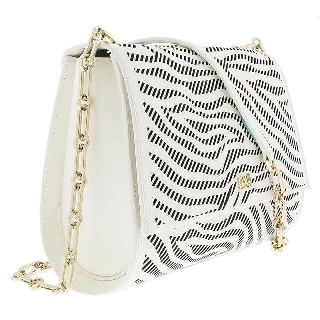 Item - Class White/Black Small White/Black Calf Synthetic Leather Shoulder Bag
