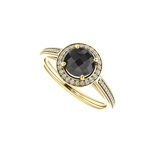 Preload https://img-static.tradesy.com/item/25140097/black-onyx-cz-halo-engagement-in-14k-yellow-gold-ring-0-0-540-540.jpg