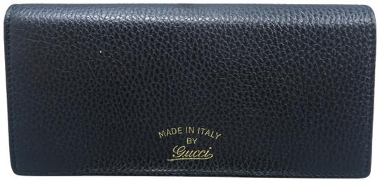 47664fd50f8 Gucci Black Swing Leather Continental Wallet - Tradesy