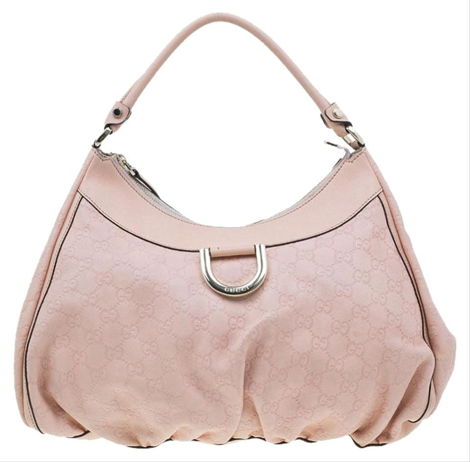8db6feeef869 Gucci Guccissima Ring Large Pink Leather Hobo Bag - Tradesy