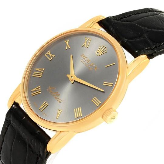 Rolex Rolex Cellini Classic 18k Yellow Gold Slate Dial Watch 5116 Box Papers Image 4