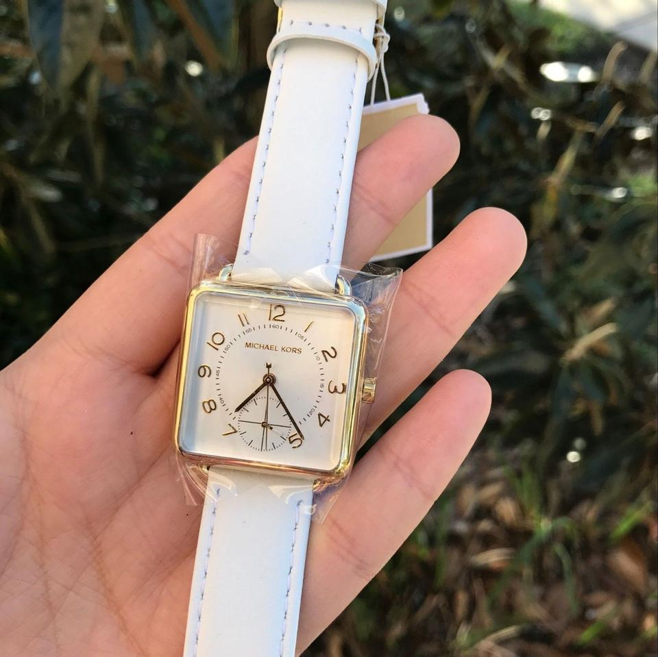 d58bb0657776 Michael Kors Michael Kors Authentic Women s Watch Brenner White Leather  Image 3. 1234