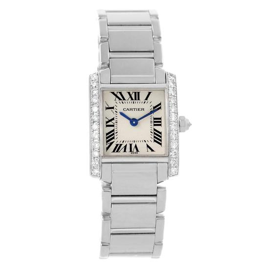 Cartier Cartier Tank Francaise Small White Gold Diamond Ladies Watch WE1002S3 Image 1