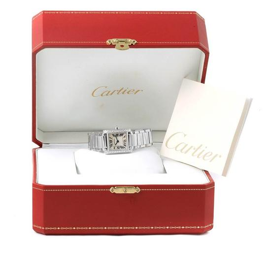 Cartier Cartier Tank Francaise Small White Gold Diamond Ladies Watch WE1002S3 Image 10