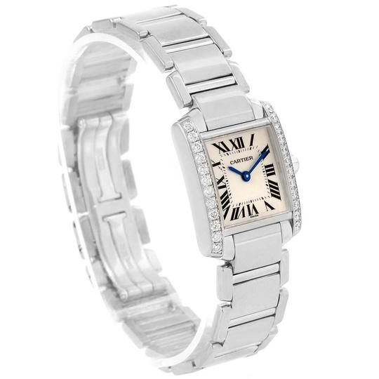 Cartier Cartier Tank Francaise Small White Gold Diamond Ladies Watch WE1002S3 Image 2