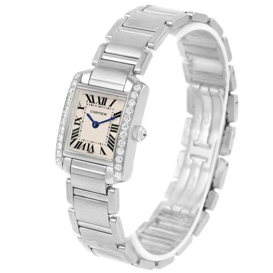 Cartier Cartier Tank Francaise Small White Gold Diamond Ladies Watch WE1002S3 Image 3