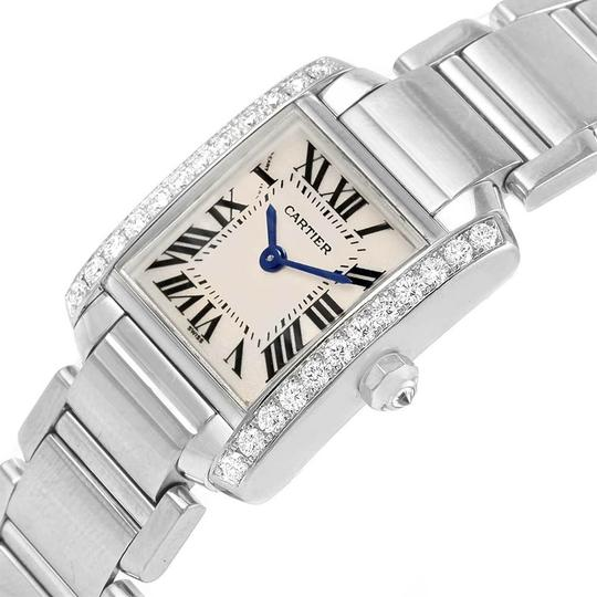 Cartier Cartier Tank Francaise Small White Gold Diamond Ladies Watch WE1002S3 Image 4