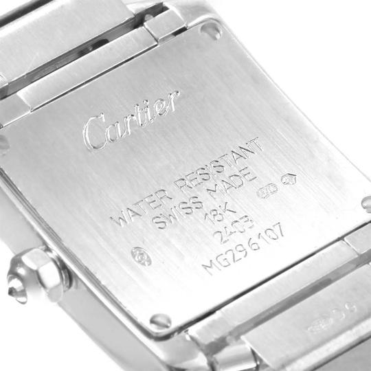 Cartier Cartier Tank Francaise Small White Gold Diamond Ladies Watch WE1002S3 Image 5
