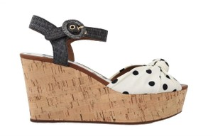Dolce&Gabbana Polka Dot Wedges Black/White Sandals