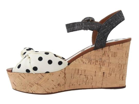 Dolce&Gabbana Polka Dot Wedges Black/White Sandals Image 1