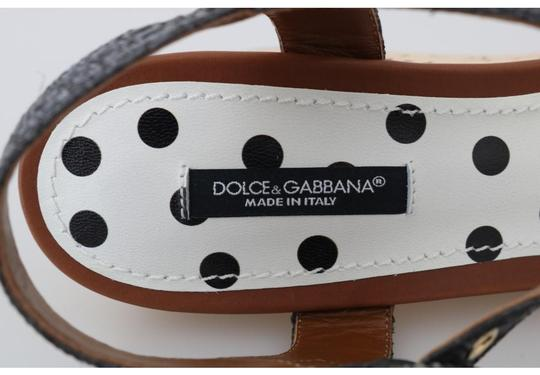 Dolce&Gabbana Polka Dot Wedges Black/White Sandals Image 6