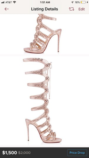 Christian Louboutin rose gold Pumps Image 2