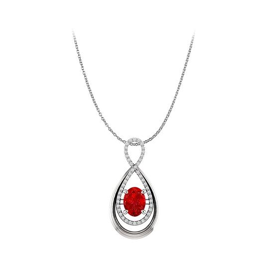 Preload https://img-static.tradesy.com/item/25140297/red-oval-rub-and-cz-infinity-style-pendant-in-white-gold-necklace-0-0-540-540.jpg