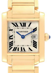 Cartier Cartier Tank Francaise Midsize Yellow Gold Ladies Watch W50014N2 Box P
