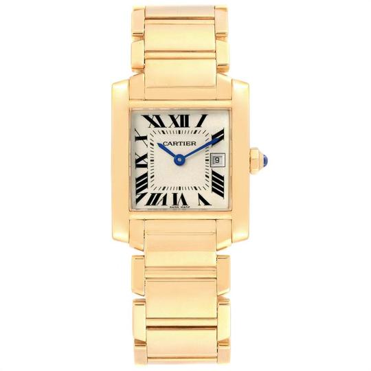Cartier Cartier Tank Francaise Midsize Yellow Gold Ladies Watch W50014N2 Box P Image 1