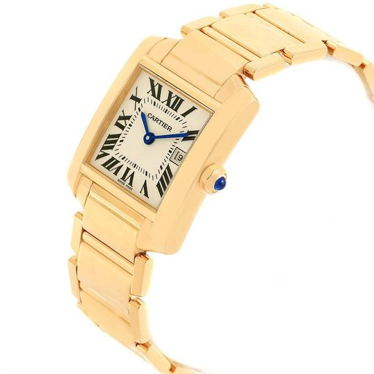 Cartier Cartier Tank Francaise Midsize Yellow Gold Ladies Watch W50014N2 Box P Image 3