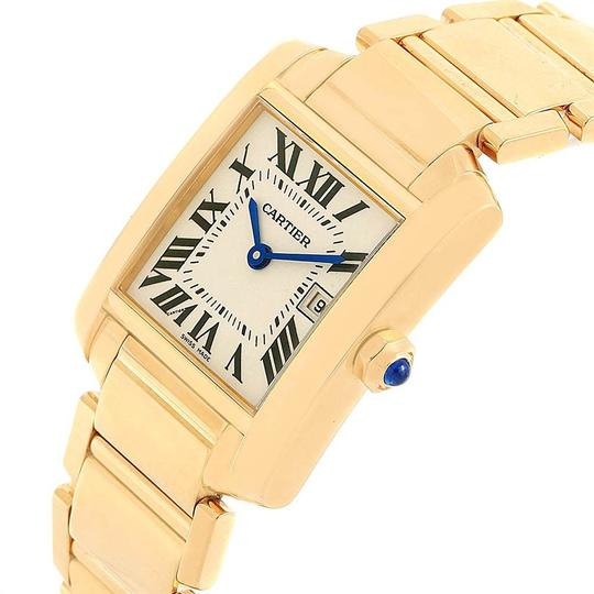 Cartier Cartier Tank Francaise Midsize Yellow Gold Ladies Watch W50014N2 Box P Image 4