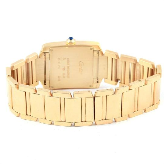 Cartier Cartier Tank Francaise Midsize Yellow Gold Ladies Watch W50014N2 Box P Image 6
