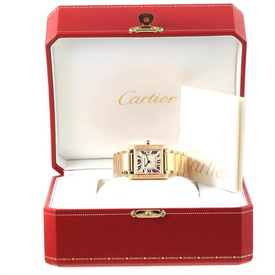 Cartier Cartier Tank Francaise Midsize Yellow Gold Ladies Watch W50014N2 Box P Image 9