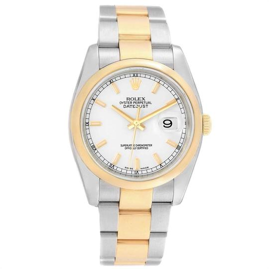 Rolex Rolex Datejust 36 Steel Yellow Gold White Dial Mens Watch 116203 Image 1