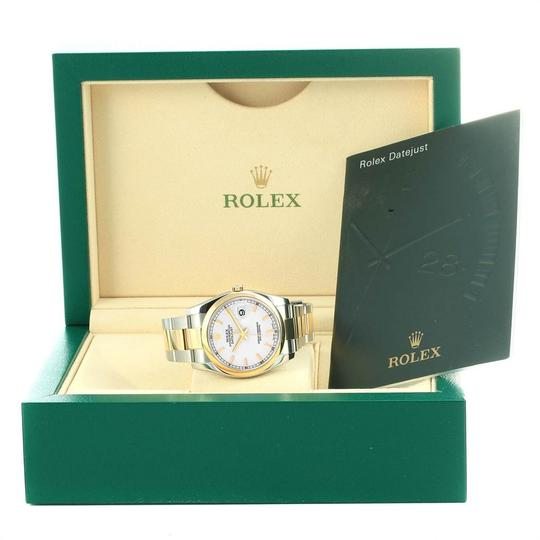 Rolex Rolex Datejust 36 Steel Yellow Gold White Dial Mens Watch 116203 Image 11