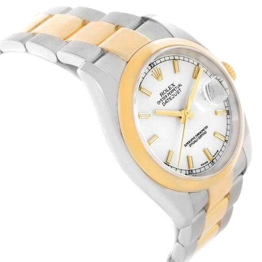 Rolex Rolex Datejust 36 Steel Yellow Gold White Dial Mens Watch 116203 Image 2