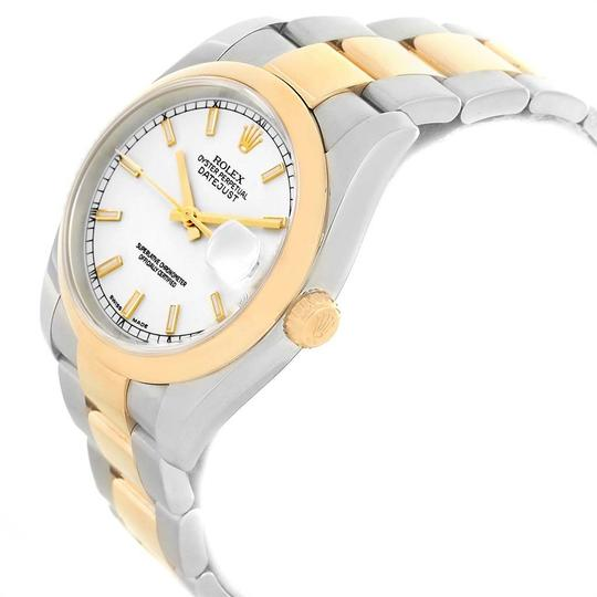 Rolex Rolex Datejust 36 Steel Yellow Gold White Dial Mens Watch 116203 Image 3