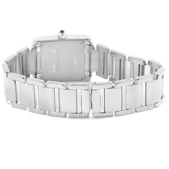 Cartier Cartier Tank Francaise White Gold Quartz Ladies Watch W50012S3 Image 7