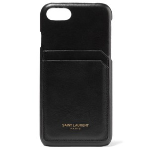 Saint Laurent logo printed leather iPhone 8 case cover