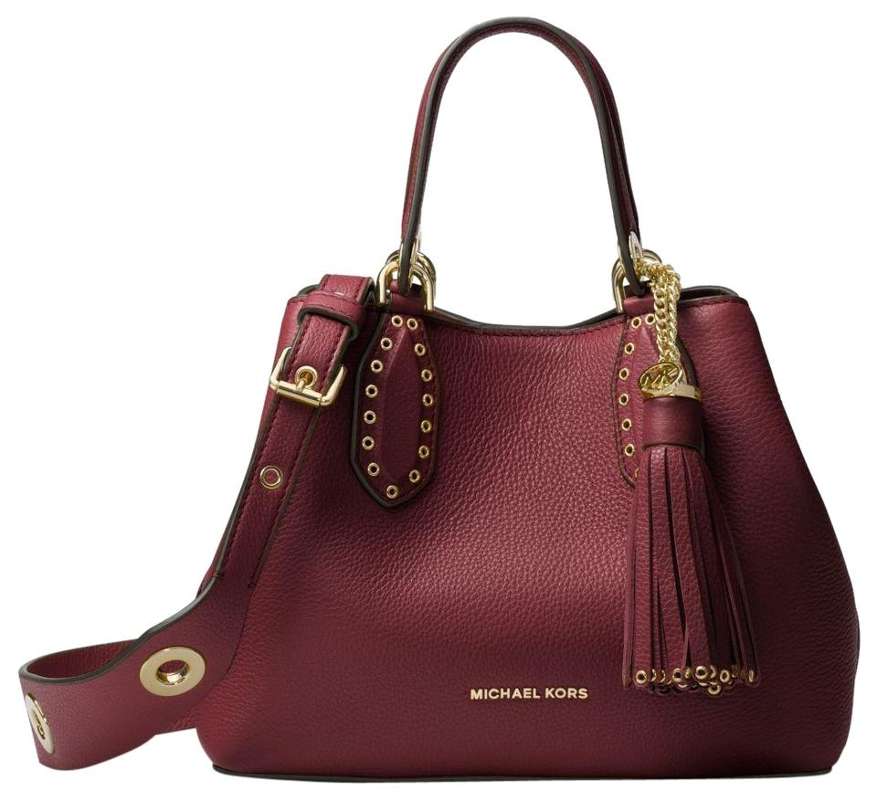 cdc7e64376cc Michael Kors Leather 31h7gbnt1l Satchel in Oxblood Image 0 ...