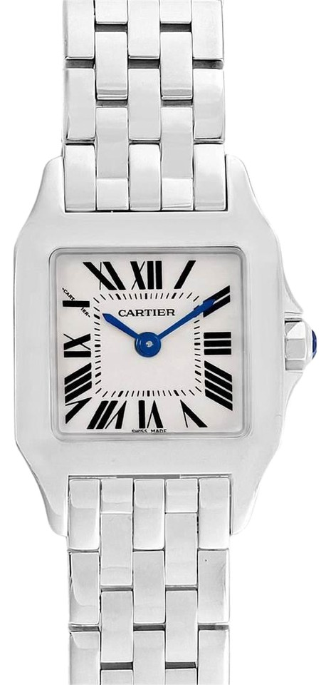 competitive price ed642 b20ae Cartier Silver Santos Demoiselle Steel Dial Small W25064z5 Watch 28% off  retail
