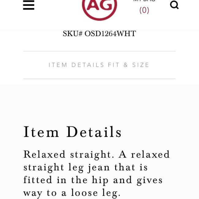 AG Adriano Goldschmied Straight Leg Jeans-Light Wash Image 2