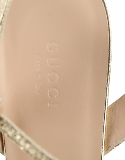 Gucci Gold Sandals Image 8