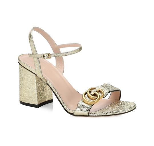 Gucci Gold Sandals Image 2