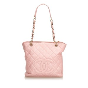7b1986c8b574 Chanel 9cchsh010 Vintage Cowhide Leather Tote in Pink