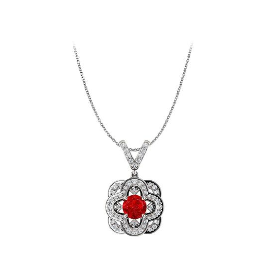 Preload https://img-static.tradesy.com/item/25140626/red-ruby-and-cz-accented-v-shape-bail-fancy-pendant-gold-necklace-0-0-540-540.jpg