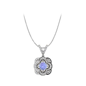 Marco B Tanzanite and CZ Accented Fancy Pendant in 14K Gold