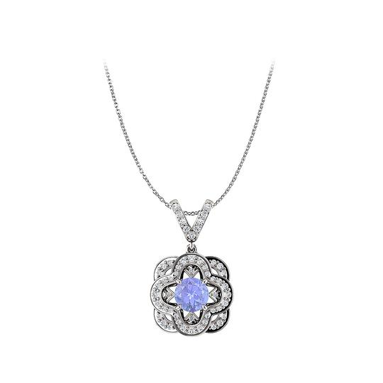Preload https://img-static.tradesy.com/item/25140638/blue-tanzanite-and-cz-accented-fancy-pendant-in-14k-gold-necklace-0-0-540-540.jpg