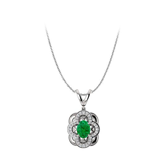 Preload https://img-static.tradesy.com/item/25140644/green-faceted-cut-emerald-and-cz-accented-white-gold-pendant-necklace-0-0-540-540.jpg
