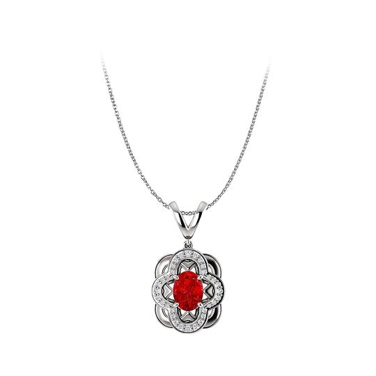 Preload https://img-static.tradesy.com/item/25140670/red-ruby-and-cz-accented-oval-pendant-in-14k-white-gold-necklace-0-0-540-540.jpg
