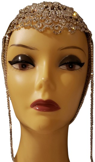 Unbranded Brand New Gold glam turban with silver crystal jewels Image 6