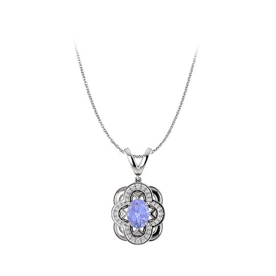 Preload https://img-static.tradesy.com/item/25140679/blue-tanzanite-and-cz-accented-artful-style-oval-pendant-necklace-0-0-540-540.jpg