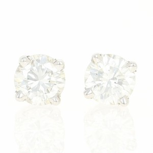 Other NEW Diamond Stud Earrings - 14k White Gold Pierced Round Cut U9146